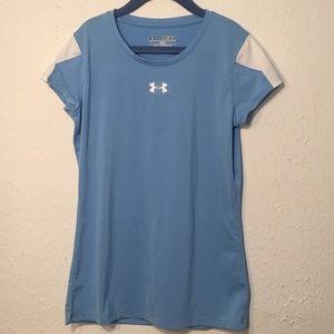 Under Armour Blue / White Short Sleeve Heat Gear